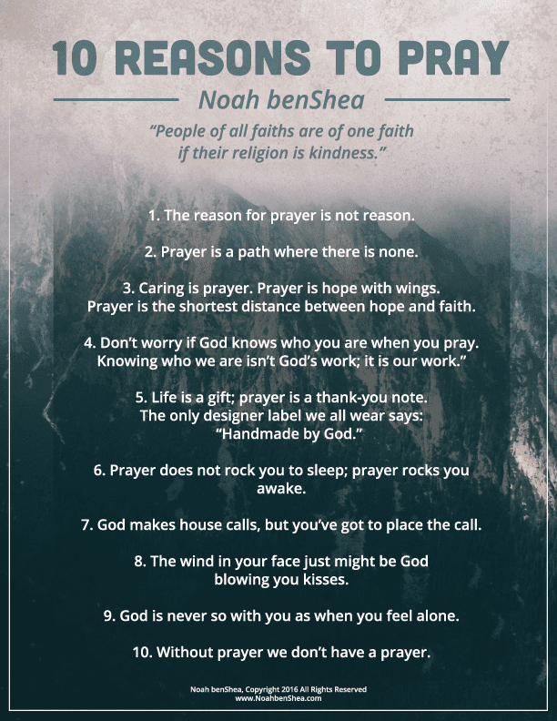 10 Reasons to Pray