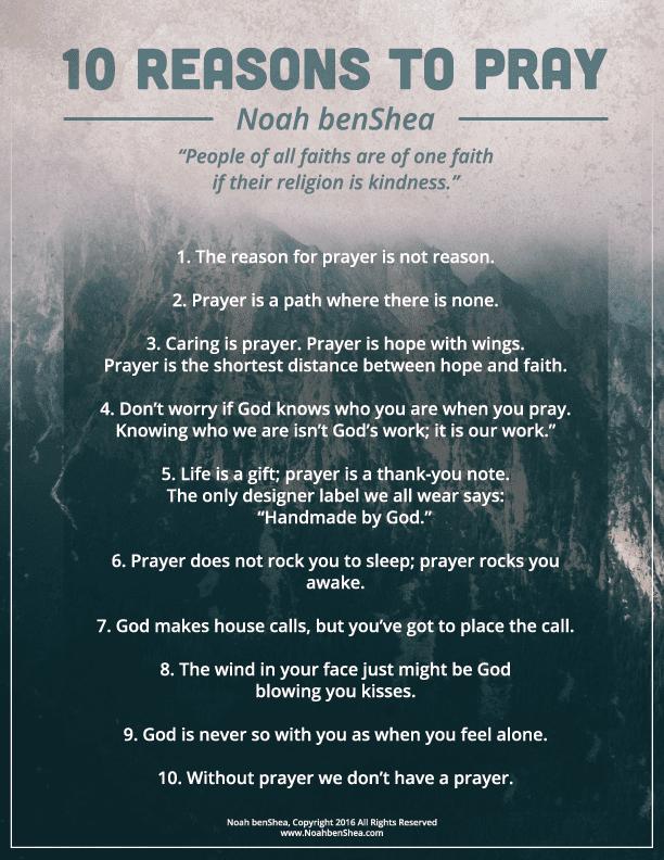 10 Reasons to Pray