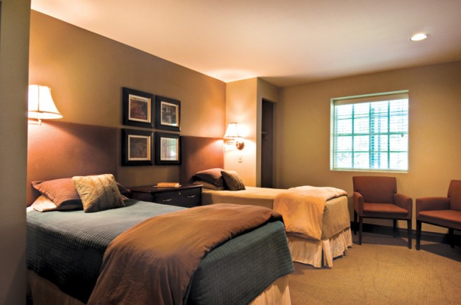 Inpatient Bedroom at The Oaks