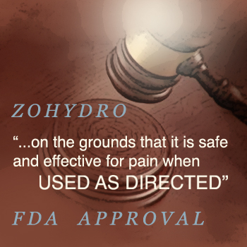 FDA Approval Zohydro Regulation Painkillers