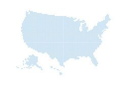dotted style map of the United States