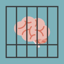 brain in cage illustration