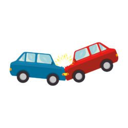 illustration of two cars crashing