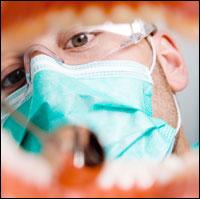 dentist working on teeth