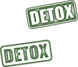 detox rubber stamp