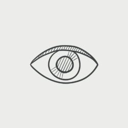 eye sketch icon