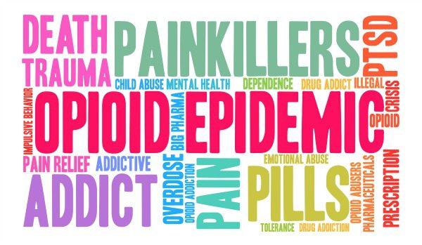 Opioid epidemic graphic