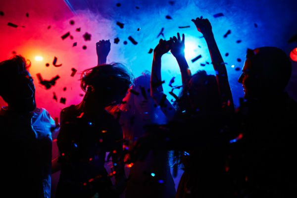 Partygoers at a concert