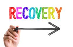 recovery with an arrow underneath