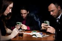 intense poker game